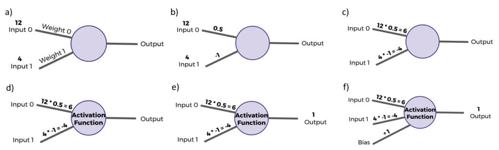 Perceptron computation process