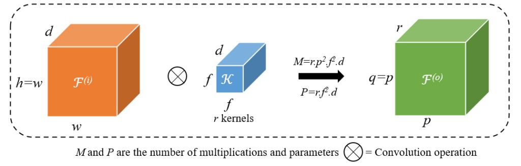 Schematic representation of standard convolution